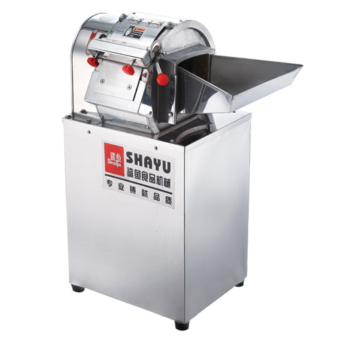 Slicing and shredding machine of potato