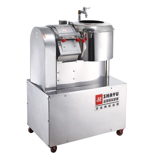 Peeling and cutting machine of potato